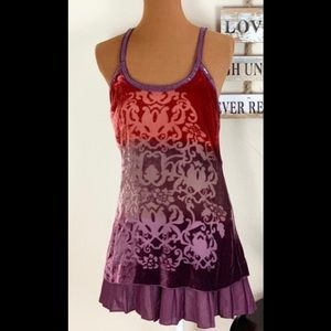 Free People dress/ burnout velvet/ sequin trim